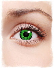 Contacts green reptile motif