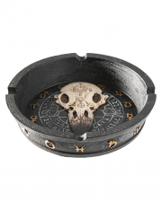 Gothic Ashtray With Raven Skull