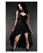 Brocade Corset Dress Onyx Steel