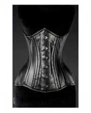 Imitation Leather Gothic Full Bust Corset Black