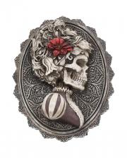 Gothic Skelett Dame Day of the Dead Wandbild