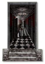 Gothic horror corridor wall film