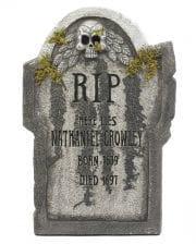 Halloween Grabstein mit Totenschädel & Moos 55 cm
