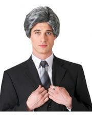 Grey Mens Wig Swept