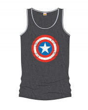 Captain America Men's Tank Top Gray