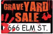 Graveyard Sale Sign