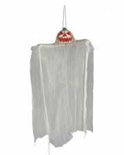 Grinning Pumpkin Ghost Hanging Figure 105cm