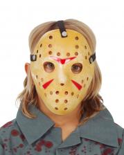 Gruselige Hockey Maske für Kinder