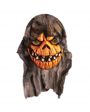 Pumpkin Head Wall Decoration With Shreds Of Fabric