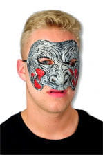 Zombie Mask Grey Red