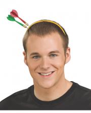 Haarreif mit Pfeilen im Kopf
