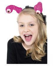 LED Headband With Alien Eyes Pink