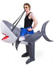 Haifisch Carry Me Kostüm aufblasbar