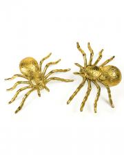 Halloween Decoration Spiders Gold 2 Pcs.