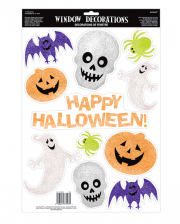 11-tlg. Halloween Glitter Sticker Set