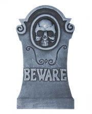 Halloween Grabstein Skull & Inschrift