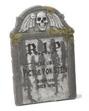 Halloween Grabstein R.I.P mit Totenschädel 55cm