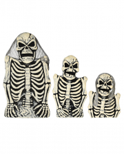 3-piece Skeleton Tombstone Set