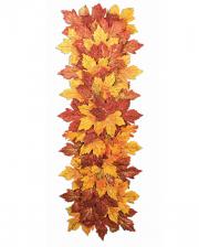Halloween Autumn Leaves Table Runner