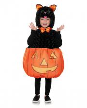 Halloween Katze mit Kürbis Kleinkinderkostüm