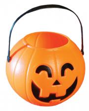 Halloween Pumpkin Bucket With Handle 11cm