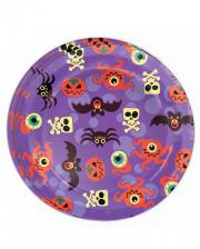 Halloween Monster Paper Plate 8 Pcs.