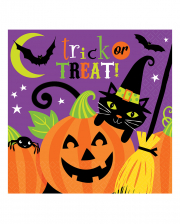 Halloween Napkins With Witch 16 Pc.