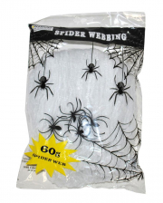 Halloween Cobweb With 4 Spiders