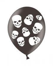 Halloween Totenkopf Luftballons 6 St.