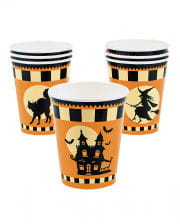 "Halloween paper cup ""Haunted House"" 8 pcs."