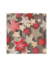 Star Motif Napkins 20 Pieces