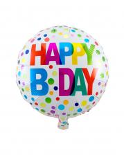Happy B-Day Foil Balloon 45 Cm