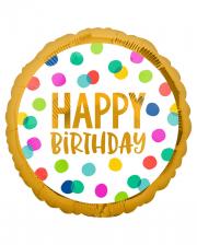 Happy Birthday Dots Party Folienballon