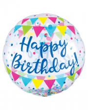 Happy Birthday Jumbo Confetti Foil Balloon