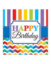 Happy Birthday Rainbow Napkins 16 pcs.