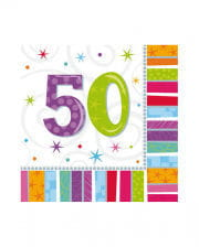Birthday Napkins 50 Colorful