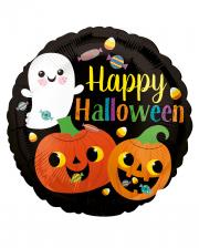 Happy Ghost & Pumpkin Foil Balloon
