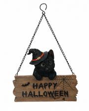 Happy Halloween Kätzchen mit Schild