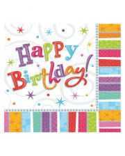 Happy Birthday Servietten Sterne 16 St.