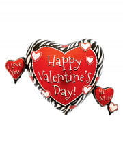Valentine Foil Balloon with Heart
