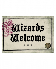 Harry Potter Wizards Welcome Metallschild DIN A5