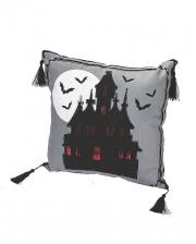 Haunted Castle Halloween Decorative Pillow