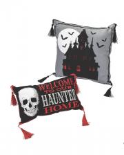 Haunted Home Halloween Dekokissen