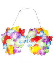 Hawaii Shell Bra with Flowers