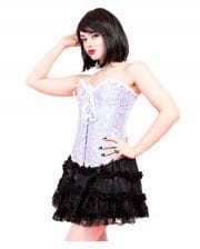 Mini skirt with lace black