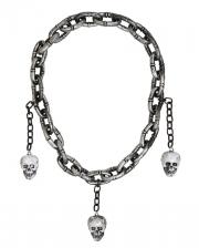 Henker Halskette mit Totenköpfe