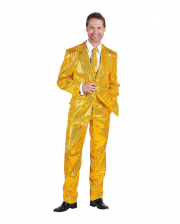 Herren Anzug mit Pailletten Gold