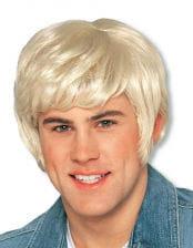 Herrenperücke Knut blond Deluxe