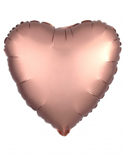 Herz Folienballon Rosegold