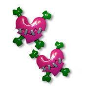 Herz Haargummis pink